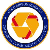 gold ribbon school emblem